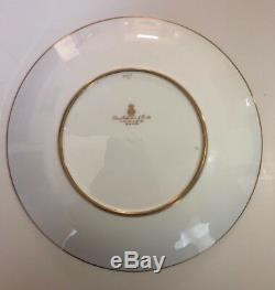 Antique Davis Collamore & Co. 24K Gold Leaf/Jade Plate with Paintings
