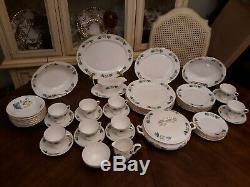 Antique Gladstone Fine Bone China Staffordshire England 57 Piece Dinnerware Set
