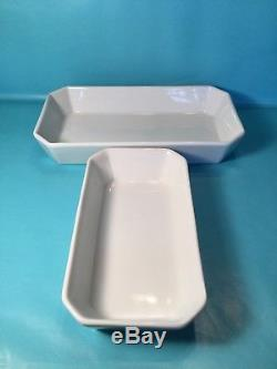 Apilco Bakeware Porcelain Baking Dish White Oven to Table Pair