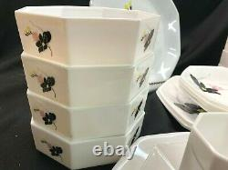 Arcopal France Anais White Floral Dinnerware Set of 26! Excellent! RARE