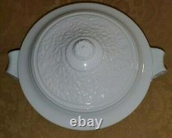 BERNARDAUD Louvre Blanc White Fine Porcelain ROUND SOUP TUREEN COVERED VEGETABLE