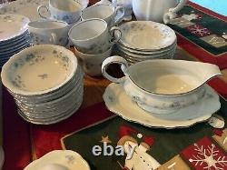 Bavaria Blue Garland dinnerware set 8-10 place Germany 68pc