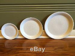Bennington Potters Dinnerware, 83 pieces, Agate/White on White