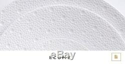 Bernardaud ECUME White Dinnerware Set of 36 (Dinner, Salad, Soup) Orig. $2040