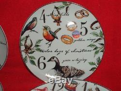 Better Homes and Gardens 12 Days Of Christmas Porcelain 12-piece Dinnerware Set+