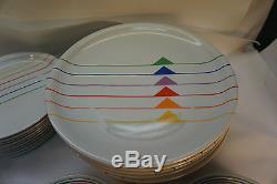 Block China Dinnerware Harmony Sextet Pattern Vista Alegre Rainbow 57 Pc Set