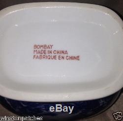 Bombay Coffee Pot 52 Oz Blue Willow Oriental Landscape Scene Blue & White