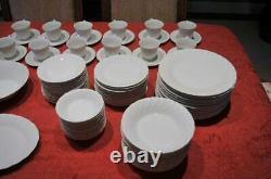 Bone White China Set-Sheffield-Japan-Service for 12 plus 10 serv pcs -Mint