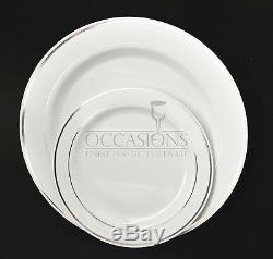 Bulk, Wedding Party Disposable dinnerware Heavyweight China / plastic plates