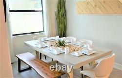 CB2 Modern Square White Dinner Dishes Plates 30 Pc Dinnerware Kitchen Mugs Set