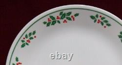 CORNING Corelle dinnerware WINTER HOLLY pattern 15-piece SET SERVICE for 4