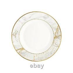 Cello Ariana Carrara Opal ware Dinner Set White & Golden Color 29 Pcs