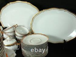 Ceralene A Raynaud Limoges LOUIS XV GOLD 113 Pc Dinnerware Set 9 Pc Place For 12