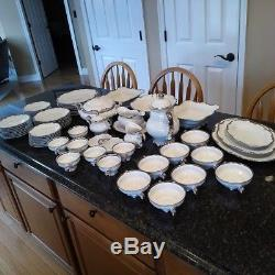 China Dinnerware Set by Hutschenreuther 67 pcs of fine translucent porcelain