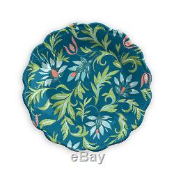 Chinoiserie Botanical Melamine Collection 12 Piece Dinnerware Set By Tarhong