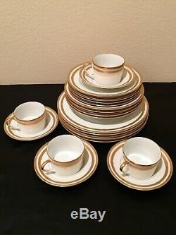 Christian Dior China Gaudron White Gold Trim Pattern Service For 4 20 Pcs