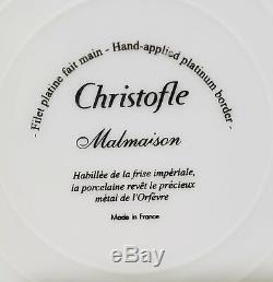 Christofle French China Malmaison Dinnerware 5pc Place Setting Brand New