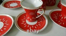 Cmielow Poland Porcelain Coffee / Chocolate Pot Sugar And Creamer Ida