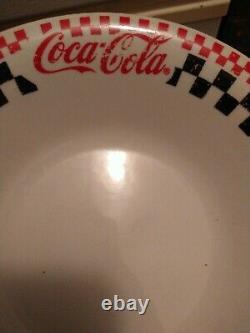 Coca-Cola Gibson Black and White Checkered Dinnerware 20 Piece 1996