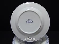 Colonial Williamsburg Blue & White Pineapple Design Dessert Plates 8/Set of 8