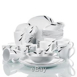 Complete Dinner Set Ceramic Plates Dinnerware Crockery Serving Dining Sets Gift
