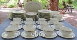 Complete Set for 12 White Rosenthal Serenade Dinnerware Mid Century Modern 63 Pc