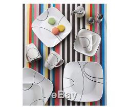 Cookware Corelle Square Simple Lines 16-Piece Dinnerware Set