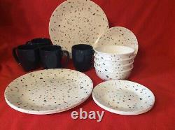 Corelle 16-pc Dinnerware Signature Terrazzo Dinner Appetizer Plate Bowl Mug New