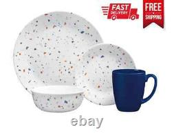 Corelle 16pc Dinnerware Set for 4 Easy-to-Clean Dishwasher Microwave Safe