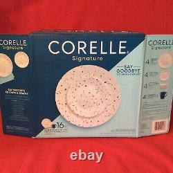 Corelle 32-piece Dinnerware Signature Terrazzo Service 8 4 pc place setting