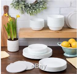 Corelle 66-Piece Dinnerware Set, Winter Frost White