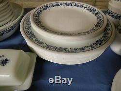 Corelle Blue Onion dinnerware set 50 pc's