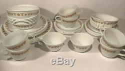 Corelle By Corning Golden Butterfly 44 Pieces 6 Place Settings (Pyrex Cups)