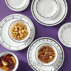 Corelle Classic 32-Piece Black & White Mix and Match Dinnerware Set