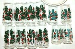 Corelle Corning Ware Holiday Holly Berry 48-Pc Christmas Dishes Dinnerware Set