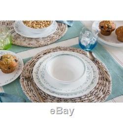 Corelle Dinnerware Set Country Cottage 16-Piece Vitrelle Versatile Elegant Chip
