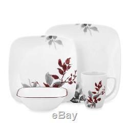 Corelle Kyoto Leaves 16-Piece Dinnerware Set Elegant Microwave Dishwasher Safe