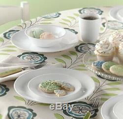 Corelle Livingware 32-Piece Dinnerware Set, Winter Frost White (Serves 8 Total)