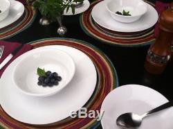 Corelle Livingware 74 Piece Dinnerware Set with Storage Lids, Service for 12