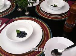 Corelle Livingware 74 Piece Dinnerware Set with Storage Lids, Service for 12