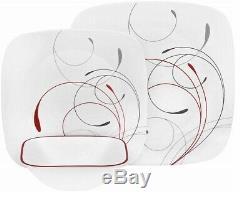 Corelle Livingware Splendor 16-piece Square Dinnerware Set Service for 4 NEW