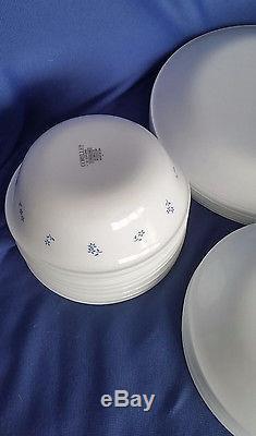 Corelle Provincial Blue Dinnerware Set Service for 8 Lot/ 32 Plates Bowls Cups & Corelle Provincial Blue Dinnerware Set Service for 8 Lot/ 32 Plates ...