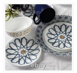 Corelle Signature Amalfi Azul 16-pc Dinnerware. Plates, Bowls, Mugs. BRAND NEW