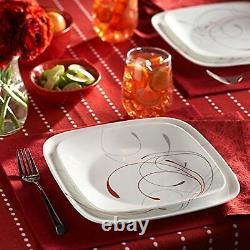 Corelle Square 16-Piece Dinnerware Set, Splendor, Service for 4