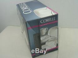 Corelle Square Simple Lines 30pc Vitrelle Glass Dinnerware Set Service for 6