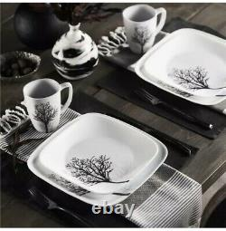 Corelle Square Timber Shadows 16-Piece Dinnerware Set Free shipping