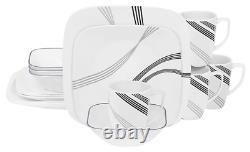Corelle Square Urban Arc 16-Piece Dinnerware Set