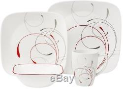 Corelle Squares 32-Piece Dinnerware Set, Splendor NEW FREE SHIPPING