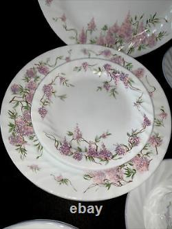 Corelle Wisteria Dinnerware Set dinner plate salad plate bowl saucer 24 pc set