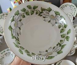 Cotillion Homer Laughlin 35 Pc. Dinnerware Set Eggshell Georgian White Floral